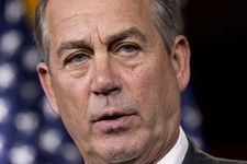 -                House Speaker John Boehner of Ohio meets with reporters on Capitol Hill in Washington, Thursday, July 25, 2013. Boehner elevated his criticism of fellow Republican Rep. Steve King over