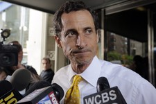 -                AP10ThingsToSee - New York City mayoral candidate Anthony Weiner leaves his apartment building in New York on Wednesday, July 24, 2013. The former congressman acknowledged sending expli