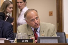 -                Rep. Steve King, R-Iowa, speaks during a House Judiciary Committee meeting on Capitol Hill in Washington, Wednesday, July 24, 2013. The White House on Wednesday condemned the Republican