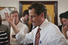 "-                Anthony Weiner, New York mayoral candidate, speaks during a news conference, Thursday, July 25, 2013, in New York. Weiner introduced his proposal for a ""non profit czar"" should he becom"