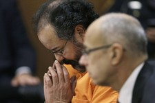 -                Ariel Castro looks down during court proceedings Friday, July 26, 2013, in Cleveland. Castro, who imprisoned three women in his home, subjecting them to a decade of rapes and beatings,