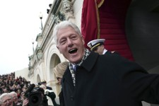 -                Former President Bill Clinton arrives on the West Front of the Capitol in Washington, Monday, Jan. 21, 2013, for the Presidential Barack Obama's ceremonial swearing-in ceremony during t