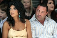"-                FILE - This Sept. 13, 2009 file photo originally released by Oral-B Pulsonic shows ""Real Housewives of New Jersey"" stars, Teresa Giudice, left, and her husband Joe Giudice at the Carava"