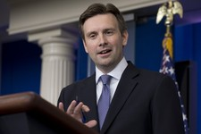 -                White House principal deputy press secretary Josh Earnest speaks during the daily news briefing at the White House, Monday, July 29, 2013, in Washington. Mideast peace talks that are st