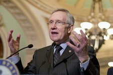 -                FILE - In this July 30, 2013 file photo, Senate Majority Leader Harry Reid of Nev. speaks with reporters on Capitol Hill in Washington. Senate Republicans Thursday killed a $54 billion