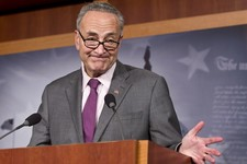 -                Sen. Chuck Schumer, D-N.Y., expresses his dismay at Russian Vladimir Putin leader granting asylum to American secrets leaker Edward Snowden, at a news conference at the Capitol in Washi