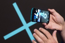 -                The video capability of a Motorola Moto X smartphone, using Google's Android software, is shown, Thursday, Aug. 1, 2013 at a press preview in New York. (AP Photo/Mark Lennihan)