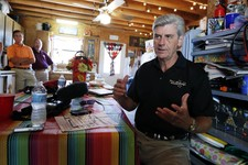 -                Gov. Phil Bryant, shown In this Aug. 1, 2013 photograph taken during a media sitdown at the Neshoba County Fair in Philadelphia, Miss., says  a new state law that says authorities must