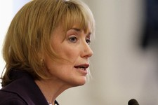-                FILE - In this Feb. 14, 2013 file photo, New Hampshire Gov. Maggie Hassan speaks in Concord, N.H. Vice President Joe Biden plans to raise campaign cash for the Democratic leader of the
