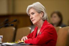 -                FILE - In this April 12, 2103 file photo, Health and Human Services (HHS) Secretary Kathleen Sebelius testifies on Capitol Hill in Washington.  Just eight weeks remain before uninsured