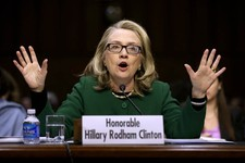 -                Secretary of State Hillary Rodham Clinton testifies on Capitol Hill in Washington, Wednesday, Jan. 23, 2013, before the Senate Foreign Relations Committee hearing on the deadly Septembe