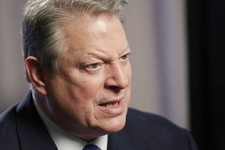 "-                Former U.S. Vice President Al Gore talks during an interview, Tuesday, Jan. 29, 2013 in New York. Gore, who takes aim in his new book at the corporate media for ""suffocating the free fl"