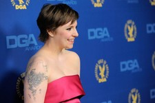 -                Lena Dunham arrives at the 65th Annual Directors Guild of America Awards at the Ray Dolby Ballroom on Saturday, Feb. 2, 2013, in Los Angeles. (Photo by Chris Pizzello/Invision/AP)