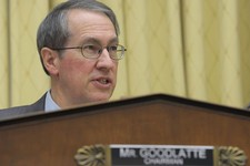 -                House Judiciary Committee Chairman Rep. Bob Goodlatte, R-Va., gives his opening remarks on Capitol Hill in Washington, Tuesday, Feb. 5, 2013, prior to the committee's hearing on America