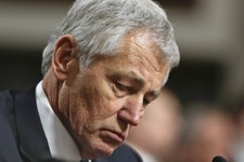 -                FILE - In this Jan. 31, 2013, file photo  Republican Chuck Hagel, a former two-term GOP senator from Nebraska and President Obama's choice for Defense Secretary, testifies before the Se