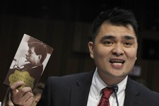 -                Pulitzer Prize-winning journalist, immigration rights activist and self-declared undocumented immigrant Jose Antonio Vargas testifies on Capitol Hill in Washington, Wednesday, Feb. 13,
