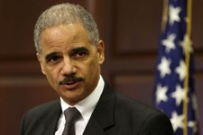 -                Attorney General Eric Holder speaks about strategy to mitigate the theft of U.S. trade secrets, Wednesday, Feb. 20, 2013, in the Eisenhower Executive Office Building on the White House