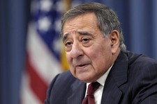 -                FILE - In this Feb. 13, 2013 file photo, outgoing Defense Secretary Leon Panetta speaks during his last news conference as defense secretary. at the Pentagon. The U.S.-led military coal