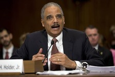 "-                Attorney General Eric Holder testifies on Capitol Hill in Washington, Wednesday, March 6, 2013, before the Senate Judiciary Committee hearing: ""Oversight of the U.S. Department of Justi"