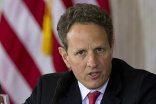 -                FILE - In this April 3, 2012 file photo, Treasury Secretary Timothy Geithner presides over an open session of the Financial Stability Oversight Council at the Treasury Department in Was