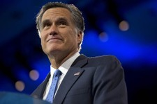 -                Former Massachusetts Gov., and 2012 Republican presidential candidate, Mitt Romney pauses while speaking at the 40th annual Conservative Political Action Conference in National Harbor,