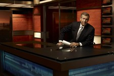 "-                This 2009 photo released by NBC shows Brian Williams on the set of ""Nightly News with Brian Williams,"" in New York. ABC, CBS, NBC evening newscasts had 11 percent fewer viewers because"
