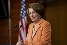 -                House Minority Leader Nancy Pelosi of Calif. speaks during a news conference on Capitol Hill in Washington, Thursday, March 21, 2013,  after the Republican-controlled House passed a tea