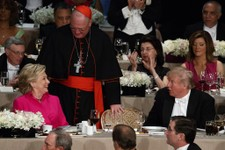 """Cardinal Dolan Reveals """"Touching Moments"""" Between Clinton and Trump at Al Smith Dinner"""