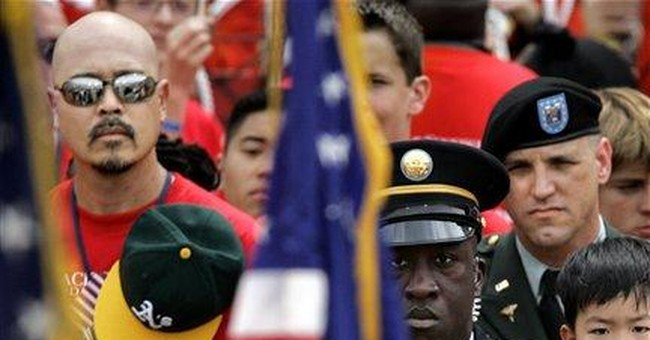 On Memorial Day, Patriotism Flags
