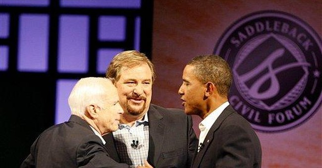 McCain vs. Obama: Showdown at Saddleback
