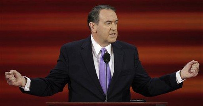 Huckabee Was the Inspiration for the Twisted Character in My Novel