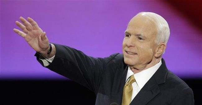 McCain Plays to His Strengths, Pours Fighting Spirit into Change Theme