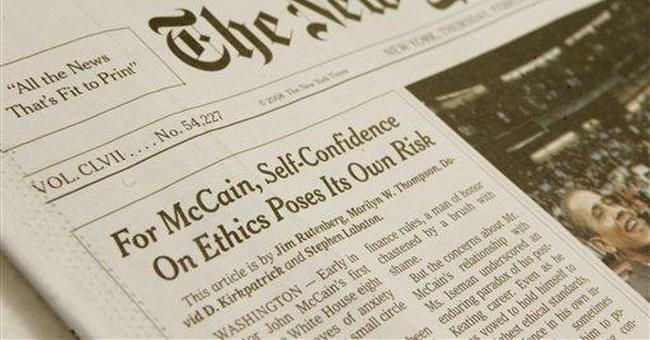 New York Times Slimes McCain