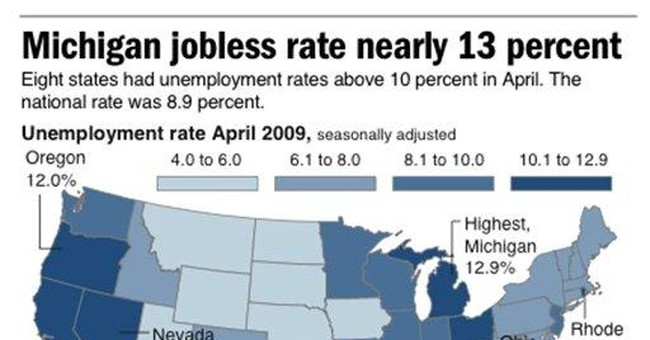 Unemployment rates fall in half of US states