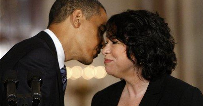 Sotomayor Doesn't Live Up to Obama's Word