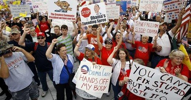 Conservative Grassroots Protest Obamacare, High Taxes, and Big Government