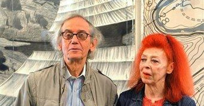 Artist Christo gives National Gallery 2 collages