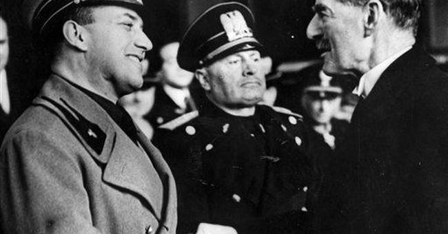Hashtag: We Are Neville Chamberlain