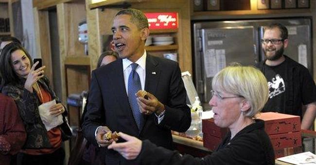 Obama's campaign stress relief: 2 dozen doughnuts