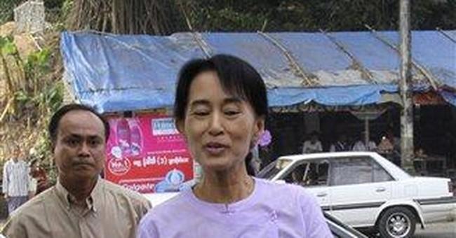 APNewsBreak: Laura Bush speaks by phone to Suu Kyi