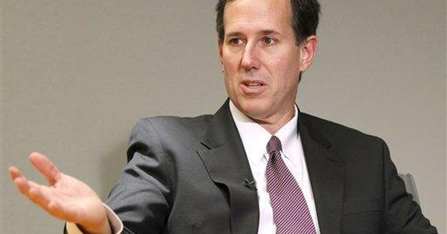 Ex-Pa. Sen. Santorum steps up 2012 White House bid