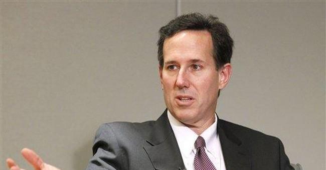 Ex-Pa. Sen. Santorum steps up 2012 White House bid