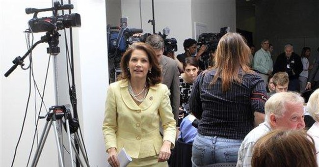 Bachmann uses Holocaust to illustrate tax point