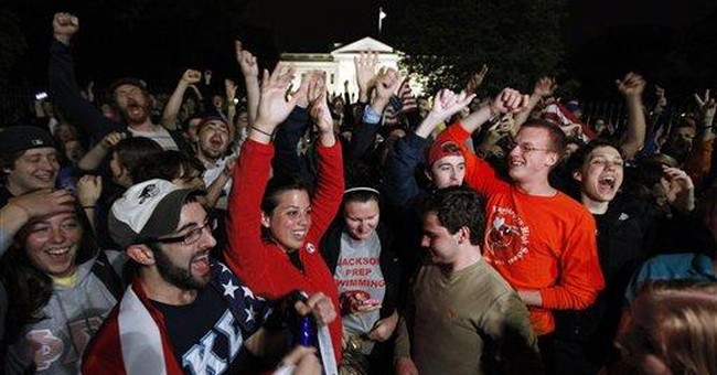 'U-S-A' chant fills the air outside White House