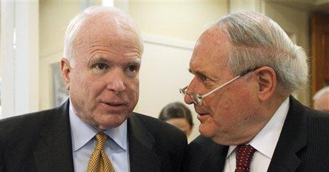 McCain scoffs at idea of a second presidential run