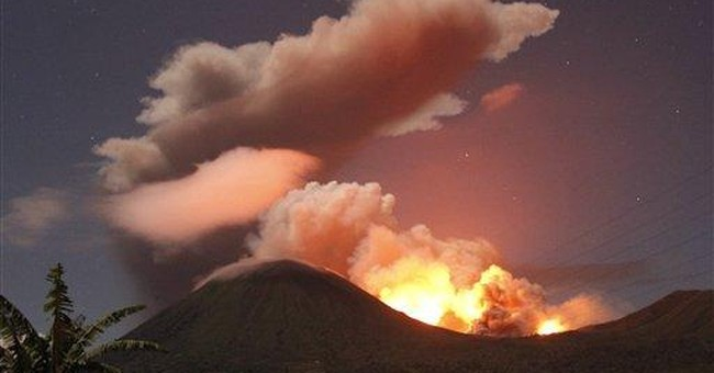 Indonesia volcano spews ash in biggest eruption