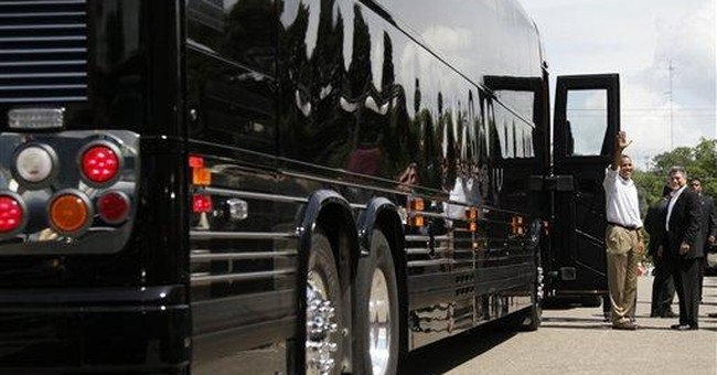 Obama traveling Midwest on new $1.1 million bus