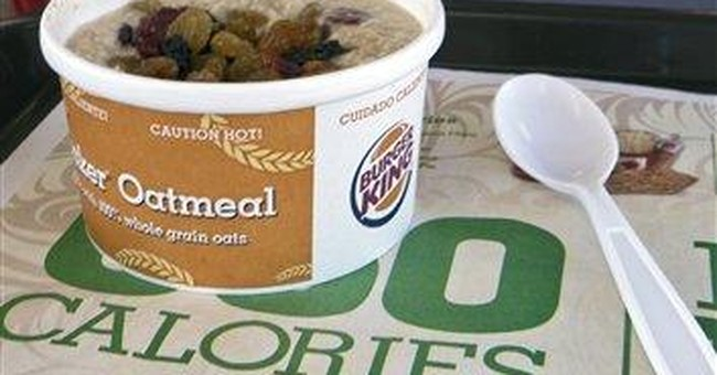 Burger King introduces oatmeal to breakfast menu