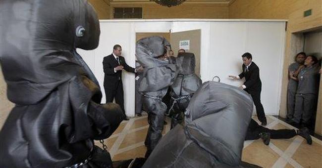 Greenpeace blocks oil company's office in Brazil