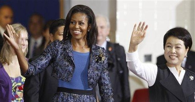 US, South Korean first ladies visit Va. school